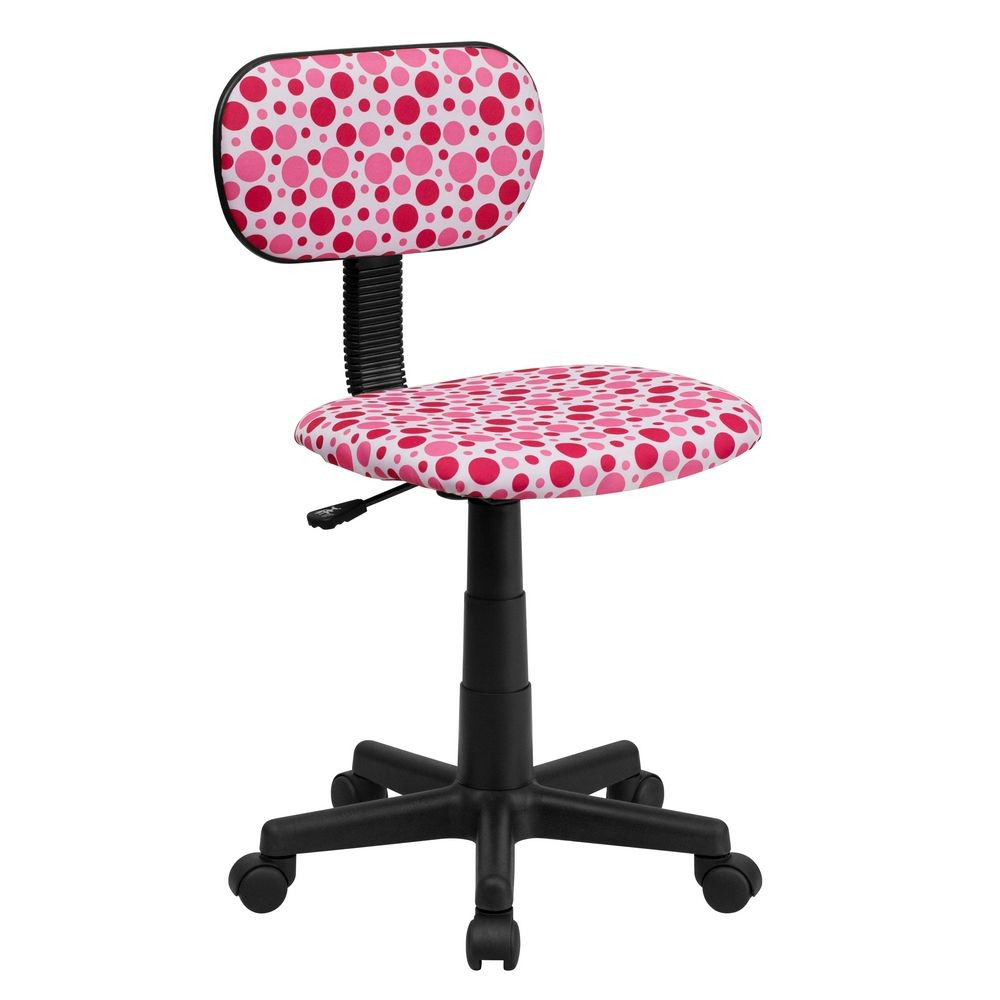 Flash Furniture BT-D-PK-GG Pink Dot Printed Computer Chair