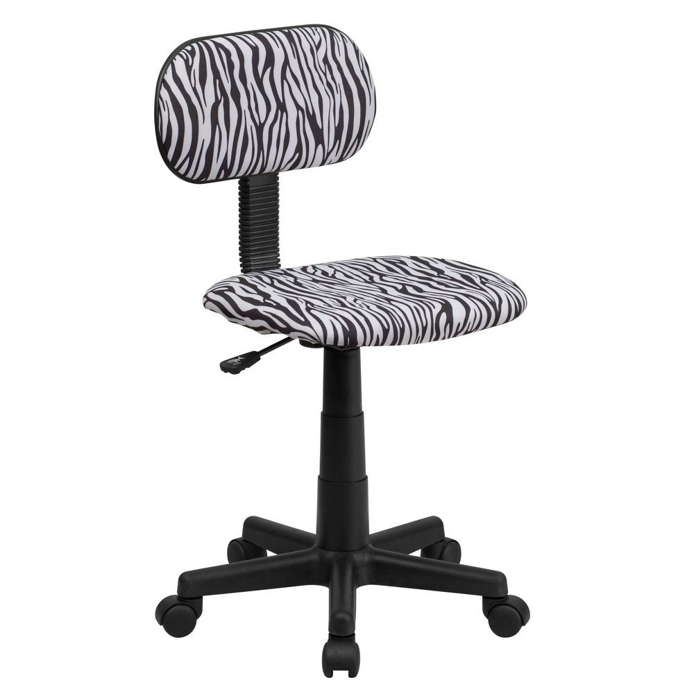 Flash Furniture BT-Z-BK-GG Black and White Zebra Print Computer Chair