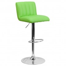 Flash Furniture CH-112010-GRN-GG Contemporary Green Vinyl Adjustable Height Bar Stool