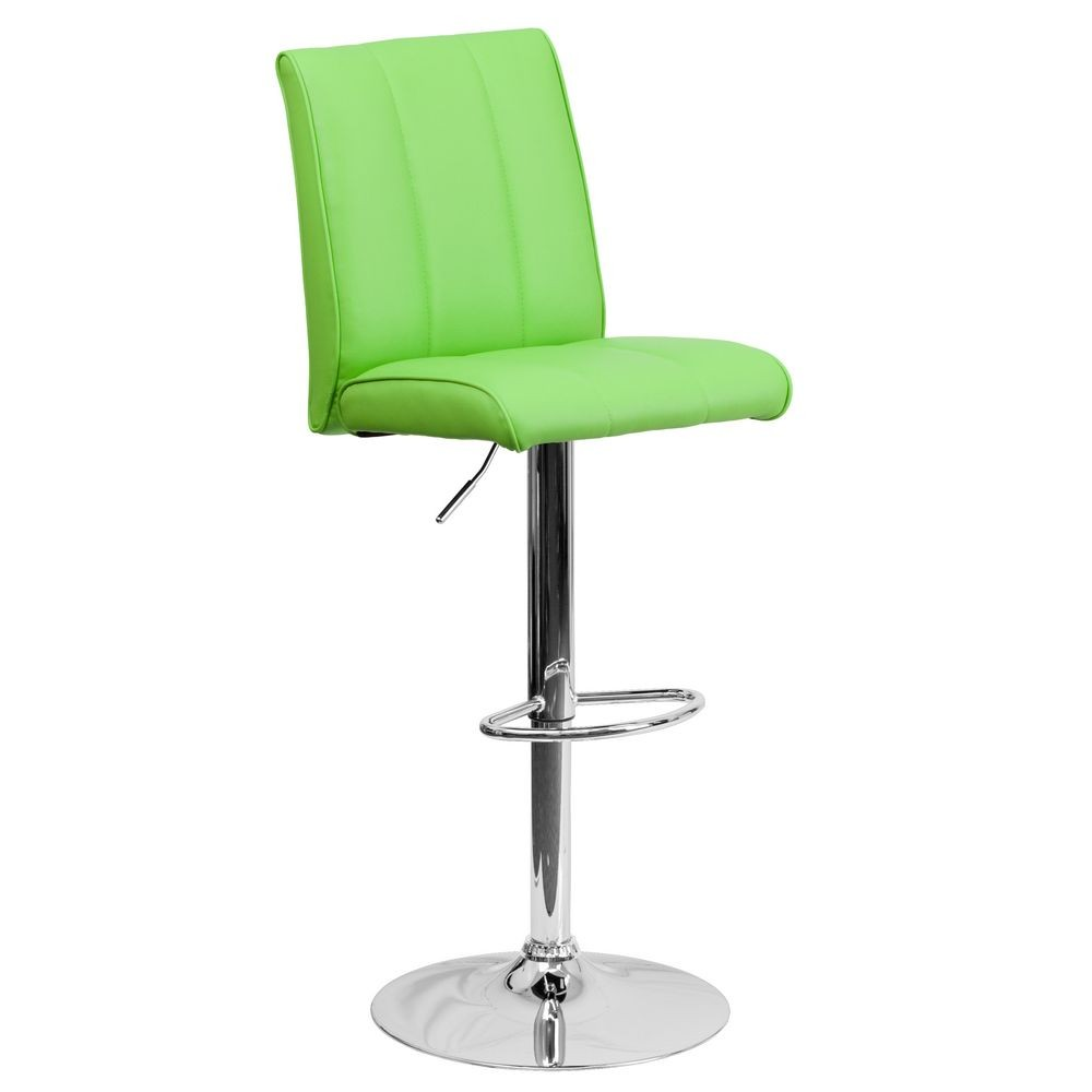 Flash Furniture CH-122090-GRN-GG Contemporary Green Vinyl Adjustable Height Bar Stool
