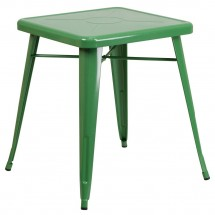 """Flash Furniture CH-31330-29-GN-GG Square Green Metal Indoor-Outdoor Table 23.75"""""""