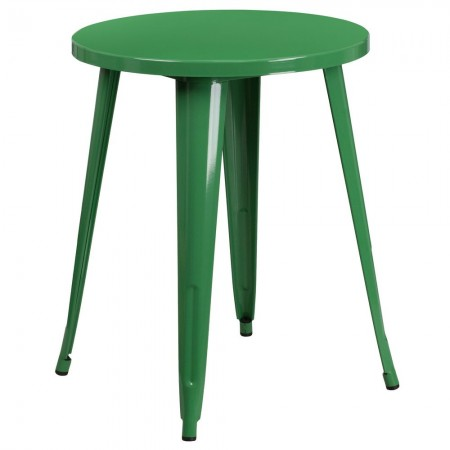 """Flash Furniture CH-51080-29-GN-GG 24"""" Round Green Metal Indoor-Outdoor Table"""