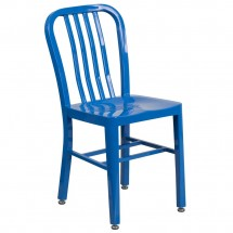 Flash Furniture CH-61200-18-BL-GG Blue Metal Indoor-Outdoor Chair