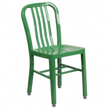 Flash Furniture CH-61200-18-GN-GG Green Metal Indoor-Outdoor Chair