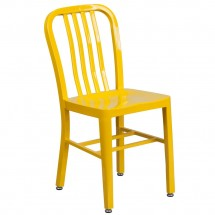 Flash Furniture CH-61200-18-YL-GG Yellow Metal Indoor-Outdoor Chair