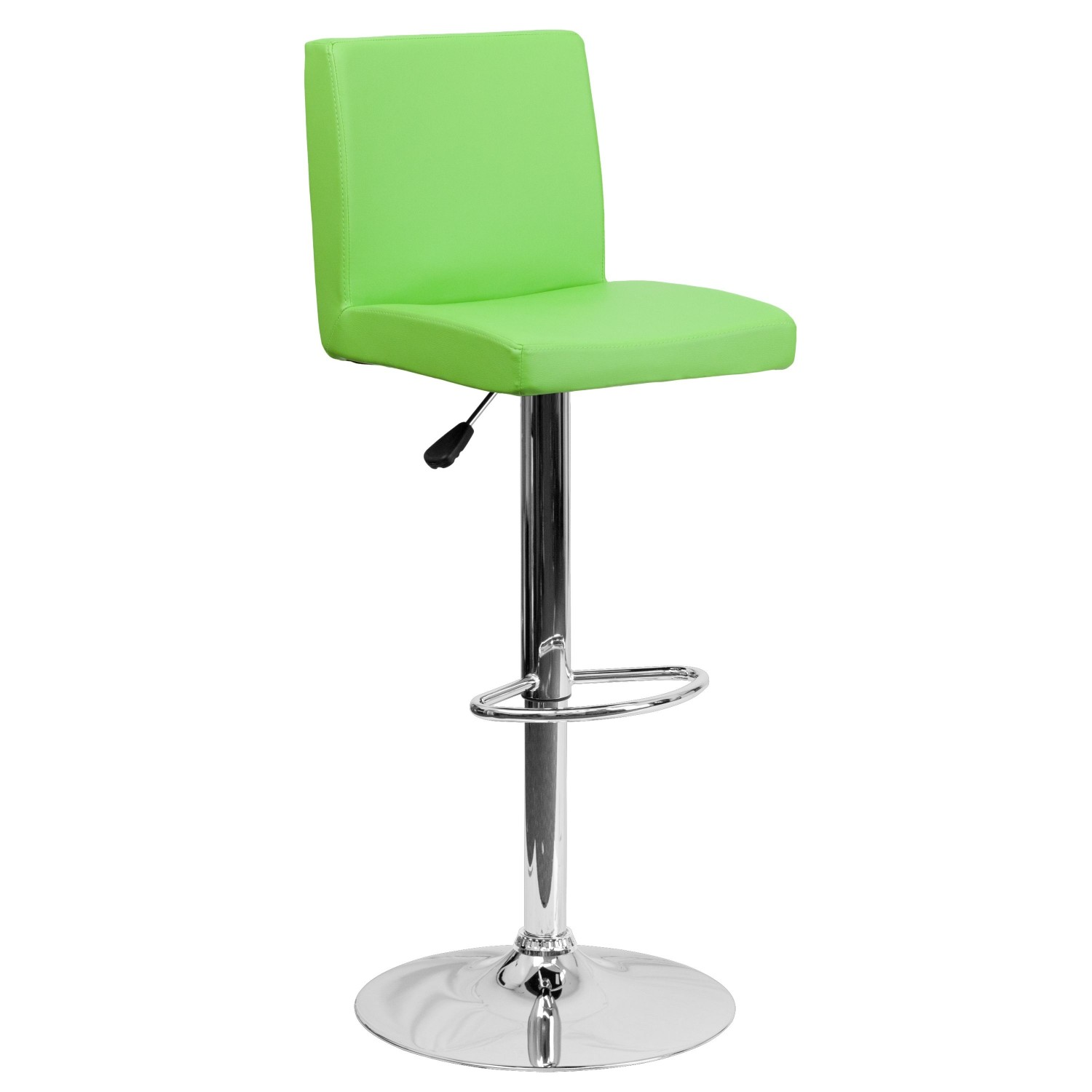 Flash Furniture CH-92066-GRN-GG Contemporary Green Vinyl Adjustable Height Bar Stool