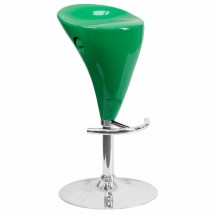 Flash Furniture CH-TC3-81003-GN-GG Contemporary Green Plastic Adjustable Height Bar Stool
