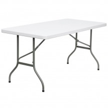 "Flash Furniture DAD-YCZ-152-GG Blow Molded Plastic Folding Table, 30"" x 60"""
