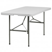 "Flash Furniture DAD-YCZ-152Z-GG Plastic Bi-Fold Folding Table, 30"" x 60"""