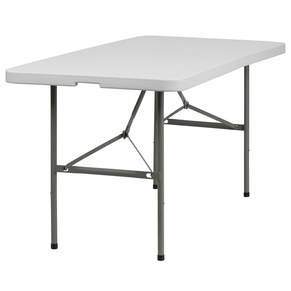 "Flash Furniture DAD-YCZ-152Z-GG Plastic Bi-Fold Folding Table 30"" x 60"""