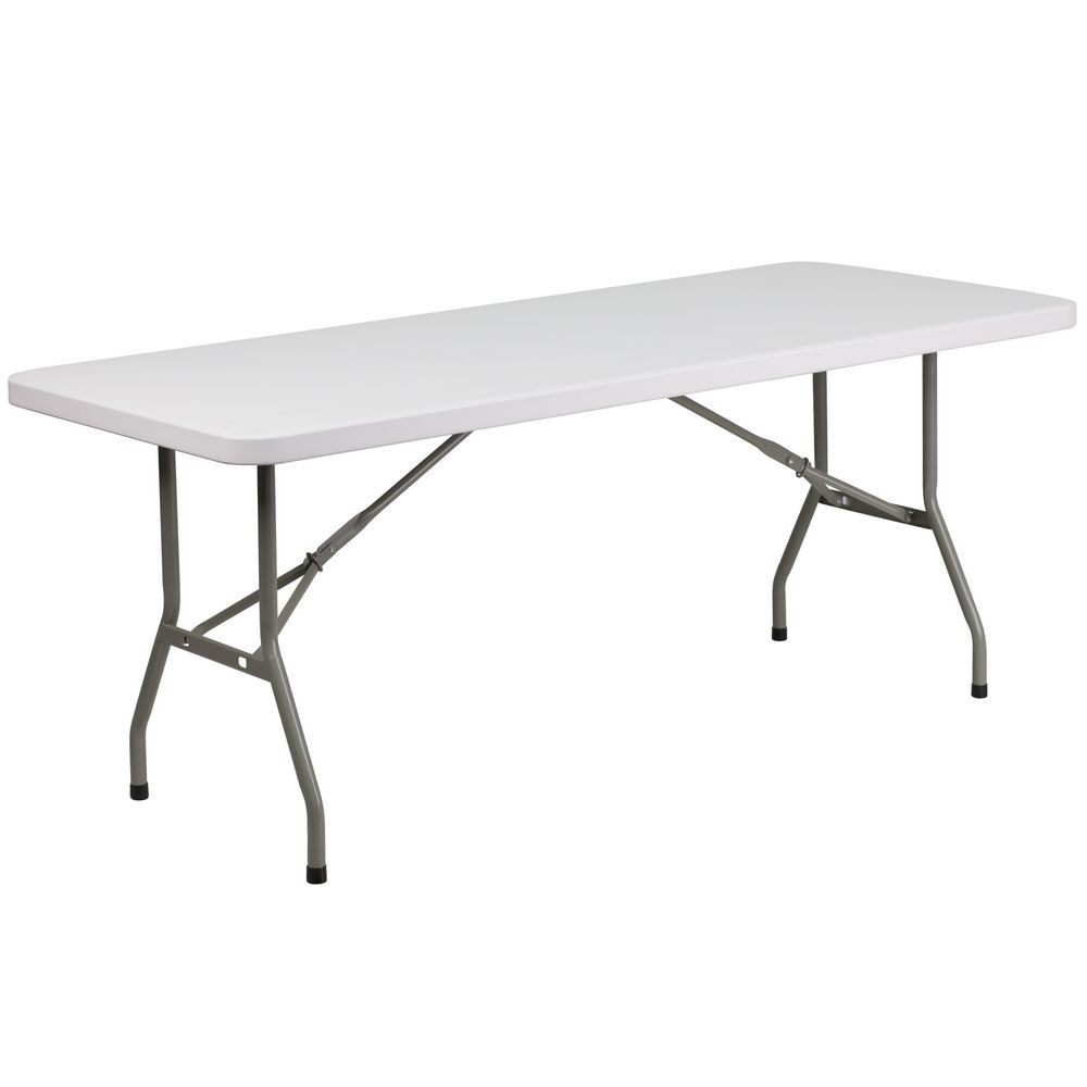 "Flash Furniture DAD-YCZ-183B-GW-GG Granite White Plastic Folding Table 30"" x 72"""