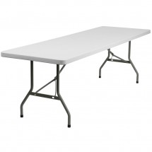 "Flash Furniture DAD-YCZ-244-GW-GG Plastic Folding Table, 30"" x 96"""