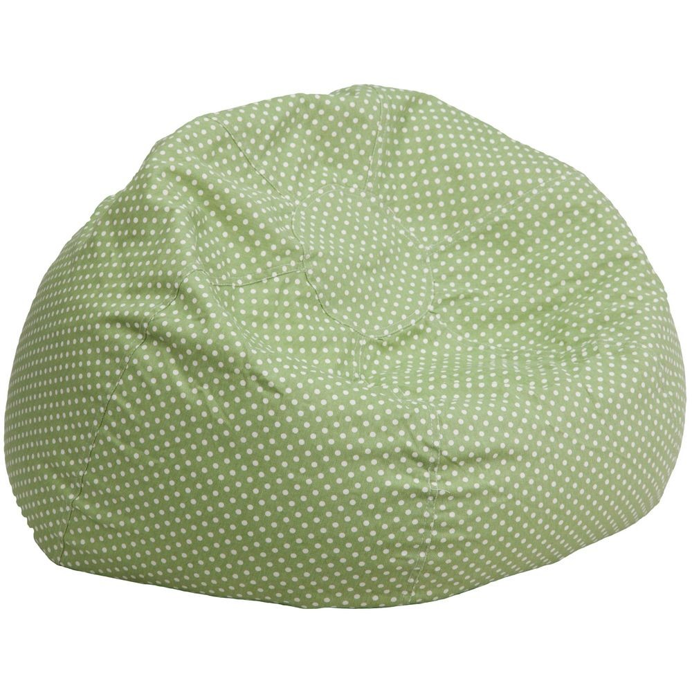 Flash Furniture DG-BEAN-LARGE-DOT-GRN-GG Green Dot Oversized Bean Bag Chair