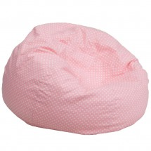 Flash Furniture DG-BEAN-LARGE-DOT-PK-GG Light Pink Dot Oversized Bean Bag Chair