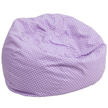 Flash Furniture DG-BEAN-LARGE-DOT-PUR-GG Lavender Dot Oversized Bean Bag Chair
