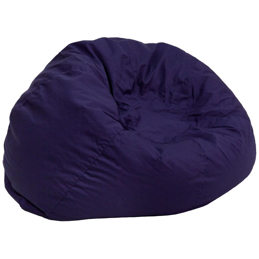 Flash Furniture DG-BEAN-LARGE-SOLID-BL-GG Solid Navy Blue Oversized Bean Bag Chair