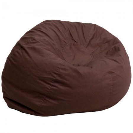 Flash Furniture DG-BEAN-LARGE-SOLID-BRN-GG Solid Brown Oversized Bean Bag Chair