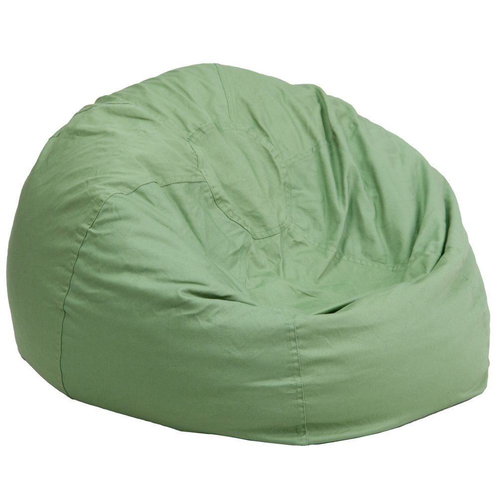 Flash Furniture DG-BEAN-LARGE-SOLID-GRN-GG Solid Green Oversized Bean Bag Chair
