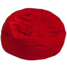 Flash Furniture DG-BEAN-LARGE-SOLID-RED-GG Solid Red Oversized Bean Bag Chair