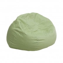 Flash Furniture DG-BEAN-SMALL-DOT-GRN-GG Green Dot Small Kids Bean Bag Chair