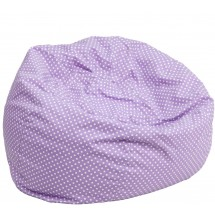 Flash Furniture DG-BEAN-SMALL-DOT-PUR-GG Lavender Dot Small Kids Bean Bag Chair