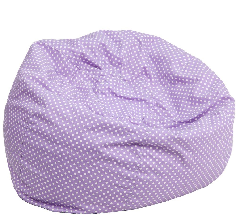 Flash Furniture DG BEAN SMALL DOT PUR GG Lavender Dot Small Kids Bean Bag  Chair