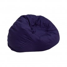 Flash Furniture DG-BEAN-SMALL-SOLID-BL-GG Solid Navy Blue Small Kids Bean Bag Chair