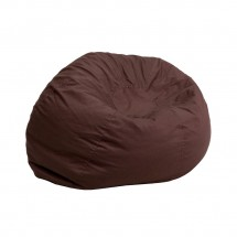 Flash Furniture DG-BEAN-SMALL-SOLID-BRN-GG Solid Brown Small Kids Bean Bag Chair