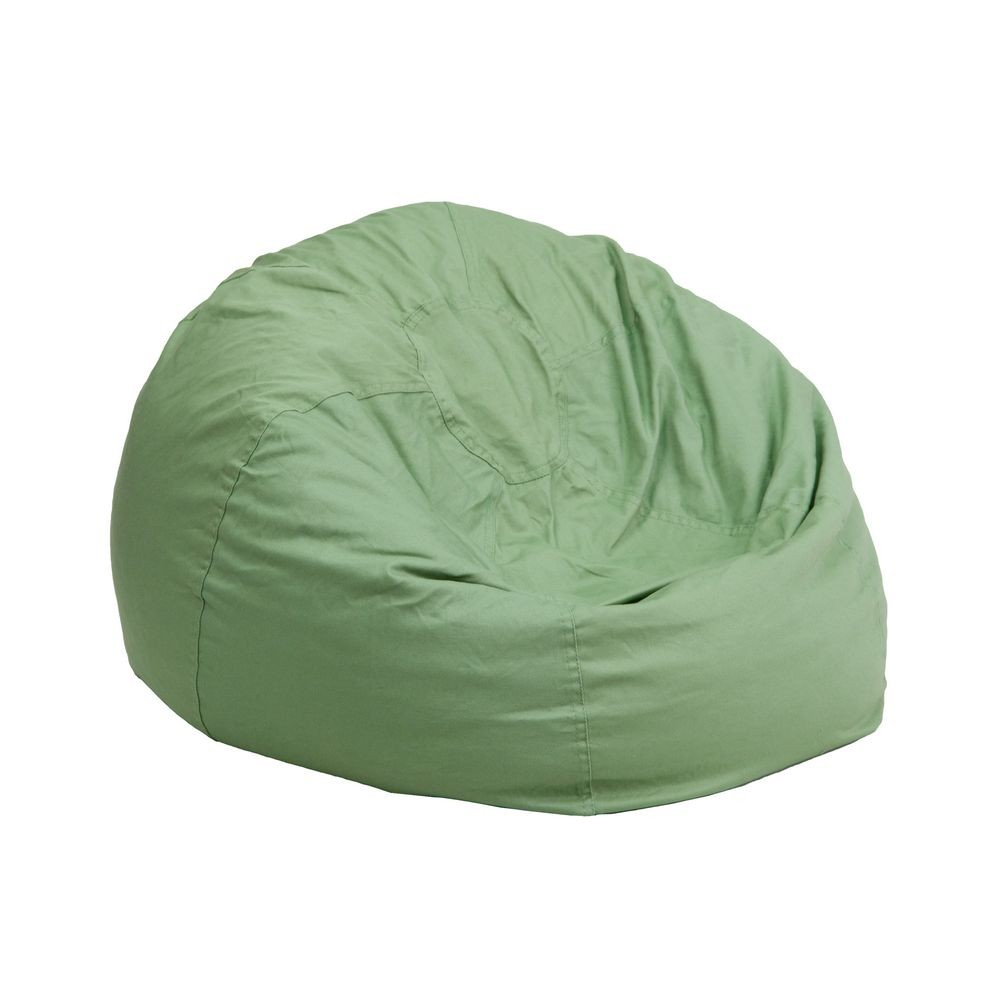Flash Furniture DG-BEAN-SMALL-SOLID-GRN-GG Solid Green Small Kids Bean Bag Chair