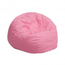 Flash Furniture DG-BEAN-SMALL-SOLID-PK-GG Solid Light Pink Small Kids Bean Bag Chair