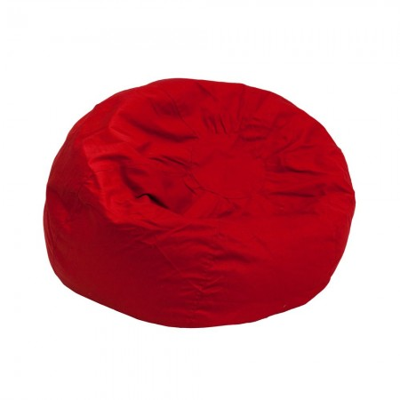 Flash Furniture DG-BEAN-SMALL-SOLID-RED-GG Solid Red Small Kids Bean Bag Chair