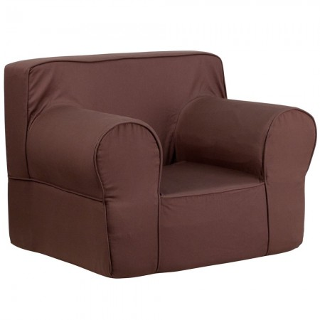 Flash Furniture DG-LGE-CH-KID-SOLID-BRN-GG Oversized Solid Brown Kids Chair