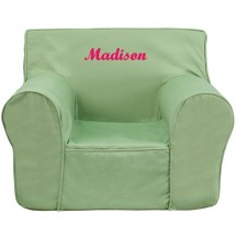Flash Furniture DG-LGE-CH-KID-SOLID-GRN-GG Oversized Solid Green Kids Chair
