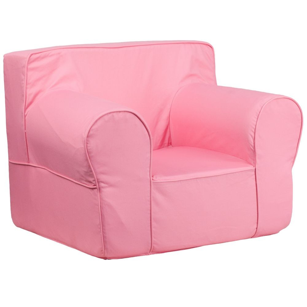 Flash Furniture DG-LGE-CH-KID-SOLID-PK-GG Oversized Solid Light Pink Kids Chair