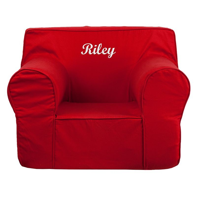 Flash furniture dg lge ch kid solid red gg oversized solid for Toddler chair