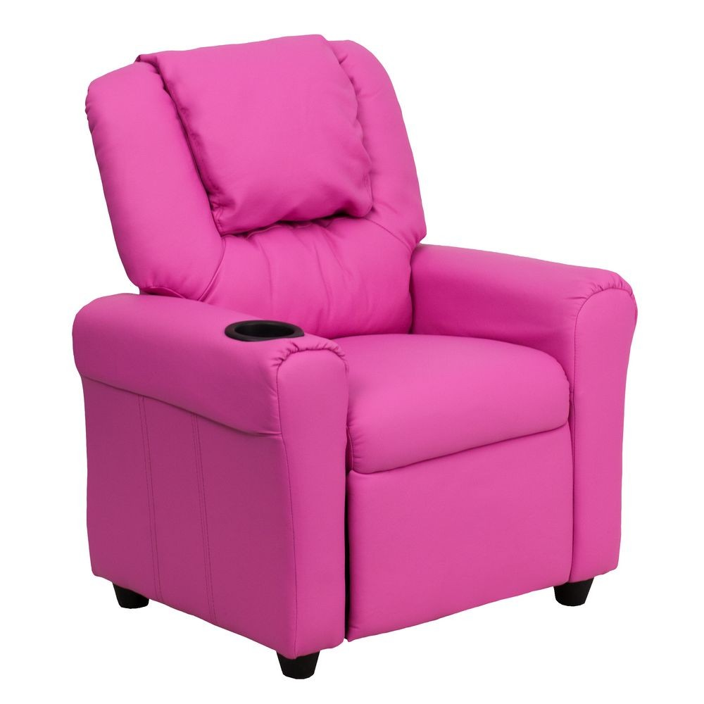 Flash furniture dg ult kid hot pink gg contemporary hot for Kids recliner chair