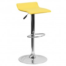 Flash Furniture DS-801-CONT-YEL-GG Contemporary Yellow Vinyl Adjustable Height Bar Stool