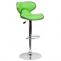 Flash Furniture DS-815-GRN-GG Contemporary Cozy Mid-Back Green Vinyl Adjustable Height Bar Stool