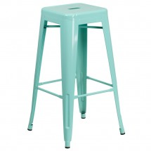 """Flash Furniture ET-BT3503-30-MINT-GG Backless Mint Green Metal Indoor-Outdoor Barstool with Square Seat 30"""""""