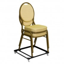 Flash Furniture FD-BAN-CH-DOLLY-GG HERCULES Series Steel Stack Chair and Church Chair Dolly