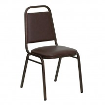 Flash Furniture FD-BHF-2-BN-GG HERCULES Series Trapezoidal Back Brown Vinyl Stacking Banquet Chair