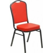 Flash Furniture FD-C01-SILVERVEIN-CRIM-VY-GG HERCULES Series Crown Back Red Stacking Banquet Chair - Silver Vein Frame