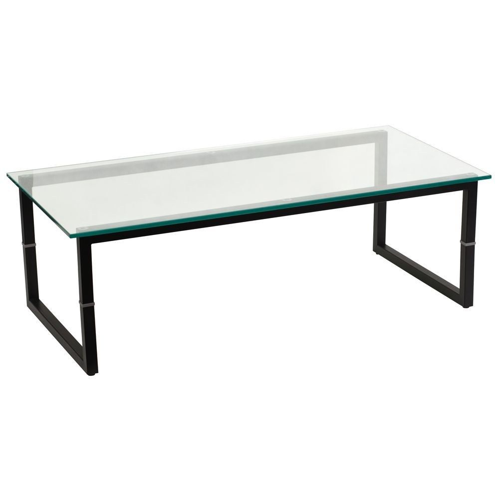 Flash Furniture FD-COFFEE-TBL-GG Clear Glass Coffee Table