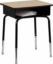 Flash Furniture FD-DESK-GG Student Desk with Open Front Metal Book Box