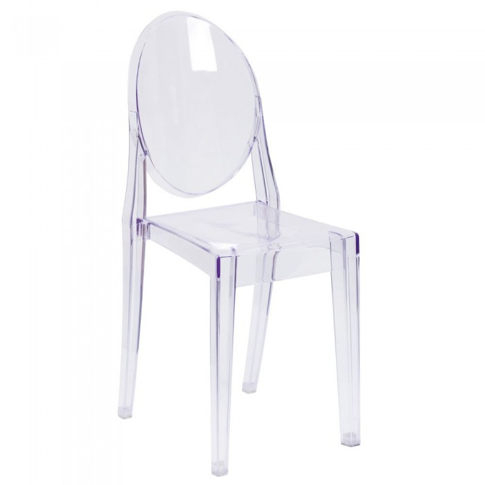 Flash Furniture FH-111-APC-CLR-GG Ghost Side Chair in Transparent Crystal