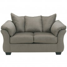 Flash Furniture FSD-1109LS-COB-GG Signature Design by Ashley Darcy Loveseat in Cobblestone Fabric