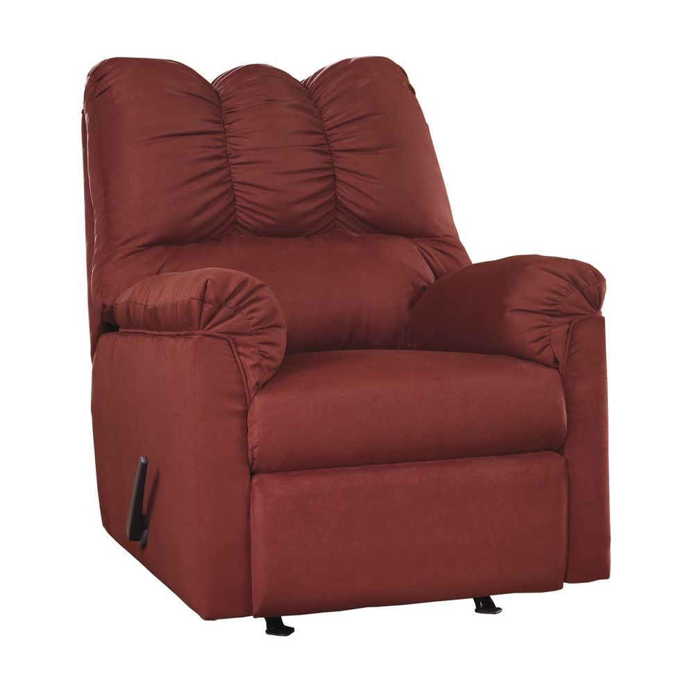 Flash Furniture FSD-1109REC-RED-GG Signature Design by Ashley Darcy Rocker Recliner in Salsa Fabric