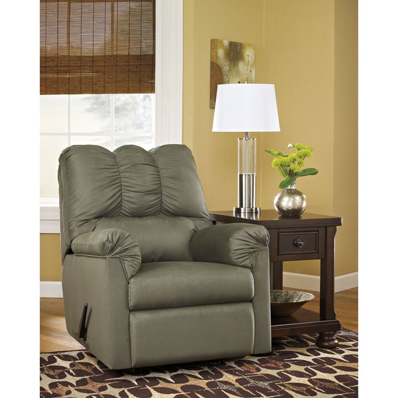Flash Furniture FSD-1109REC-SAG-GG Signature Design by Ashley Darcy Rocker Recliner in Sage Fabric