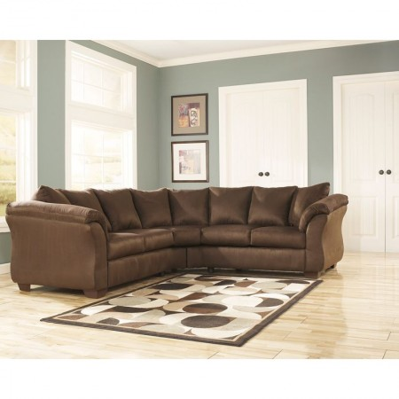 Flash Furniture FSD-1109SEC-CAF-GG Signature Design by Ashley Darcy Sectional in Cafe Fabric