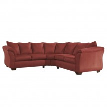 Flash Furniture FSD-1109SEC-RED-GG Signature Design by Ashley Darcy Sectional in Salsa Fabric